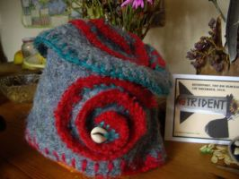Upcycled felted hats3